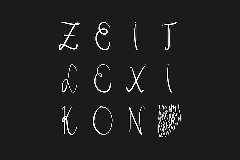 Agnes Steiner, Zeitlexikon — Idea, Text, Typography, Editorial Design, Art book